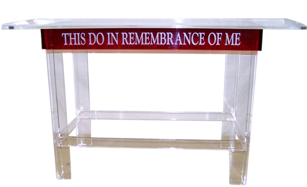 Clear / Purple Clear-Red Acrylic Communion Table