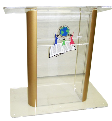 Clear Clear Contemporary Acrylic Podium