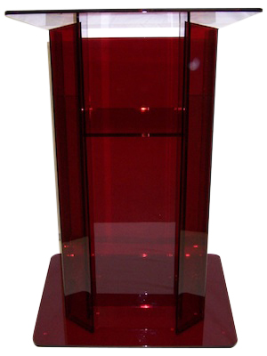Red High End Acrylic Podium