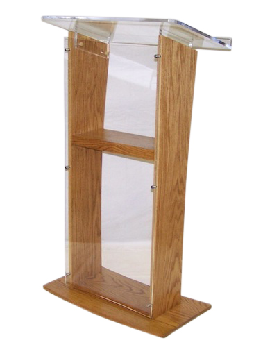 Clear Clear Stand Off Acrylic Podium