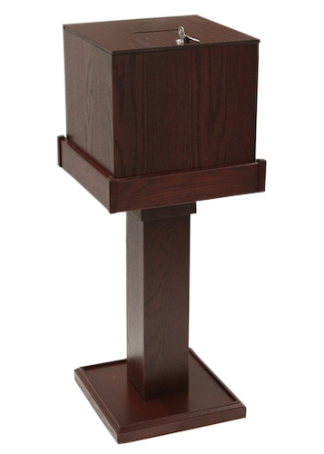 Black cherry All Wood Collection Box