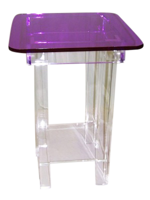 Clear-Purple Water Table