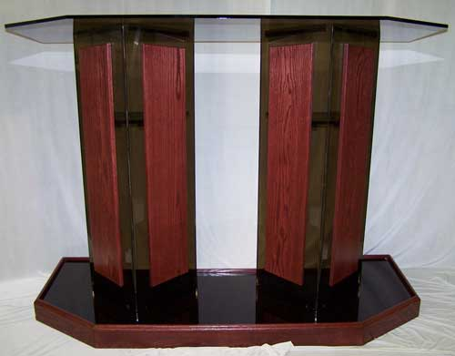 Smoked Double Wide Acrylic Podium