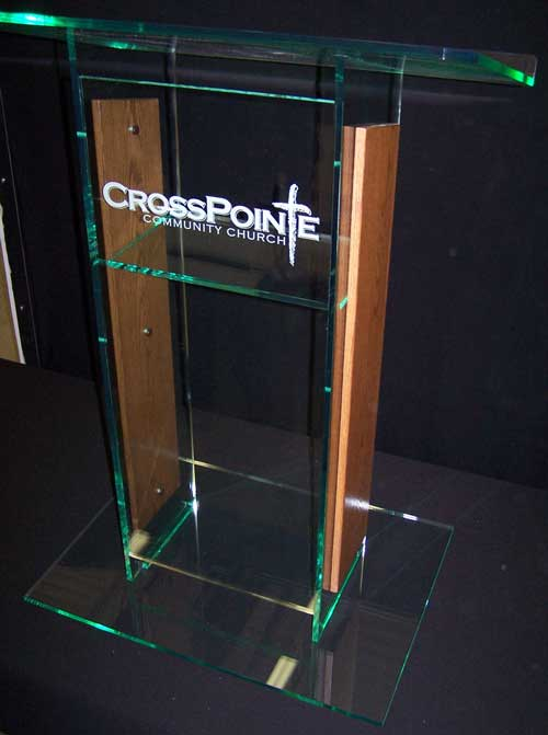 Glass Color Large Standard Acrylic Podium
