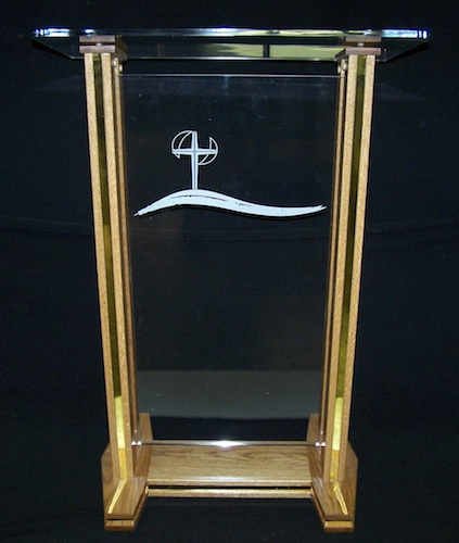 Clear Clear H-Style Acrylic Podium